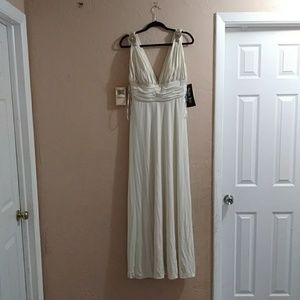 New ivory and silver dress